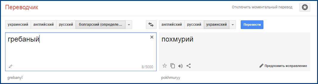 Перевод слова гребаный